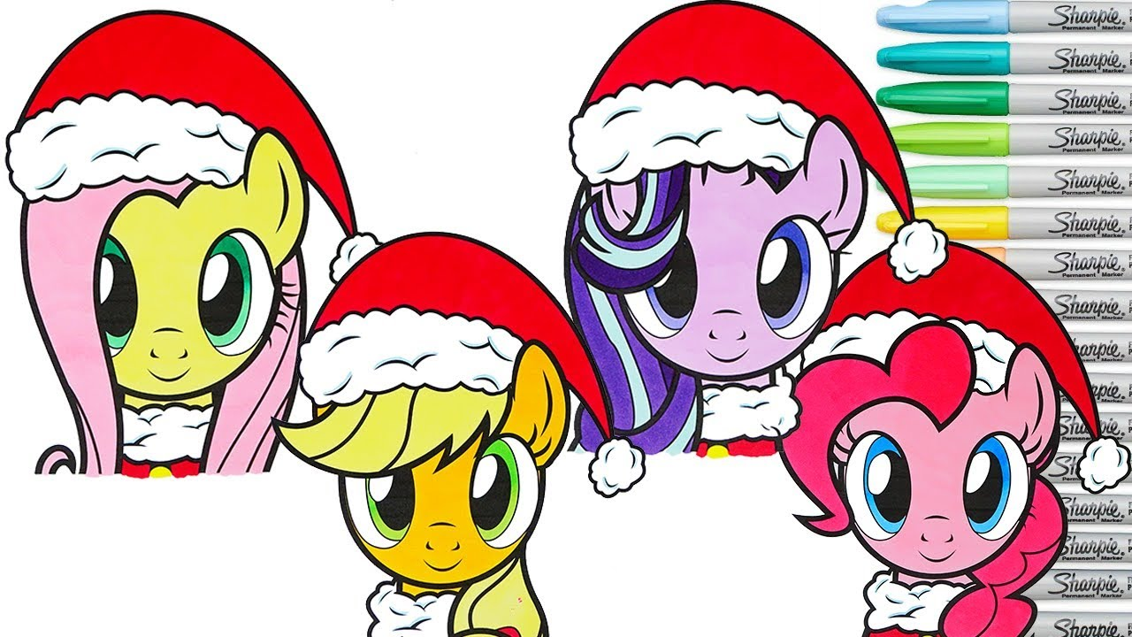 Christmas My Little Pony Coloring