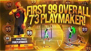 FIRST 99 OVERALL PLAYMAKER STRETCH BIG ON NBA 2K18 EVER! 7'3 DRIBBLE G0D VS 7'3 POINT GUARD NBA 2K18