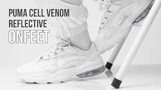 Onfeet Puma Cell Venom Reflective White (369701-02) Review | sneakers.by