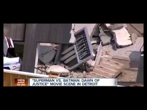 A Local News Station Caught A Glimpse Of All The 'Batman V. Superman' Destruction Filming In Detroit