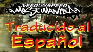 Como traducir Need for Speed - Most Wanted