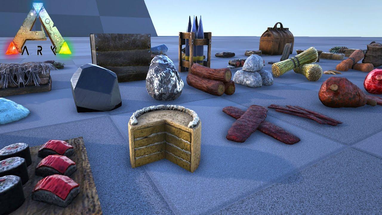 😍 ARK ON-GROUND MESHES FOR DROPPED ITEMS!! Ark Survival Evolved Dev