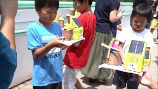 190822 水博 にて創エネ神戸  ソーラー風車作り教室を開催ー18分