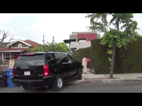 Hollywood Angle Reversing Car Out Driveway...