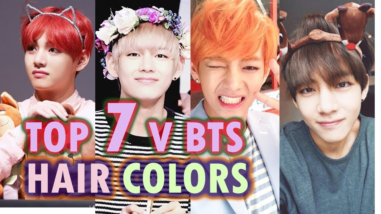 Top 7 V Bts Hair Colors 2017 Youtube