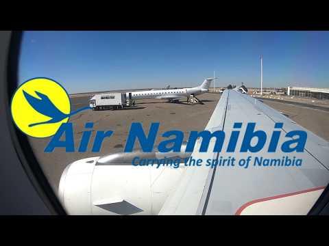 ✈ Air Namibia Airbus A319  - Take Off from Windhoek Hosea Kutako