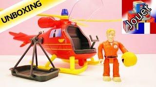 Pompier Sam hélicoptère en jouet Wallaby Français – Le pilote Tom vole - Unboxing & Demo