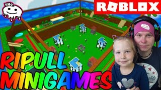 WILL WE WIN A MINI GAME WITH BARUNKOU? Ripull Minigames | Roblox | Daddy and Barunka CZ/SK
