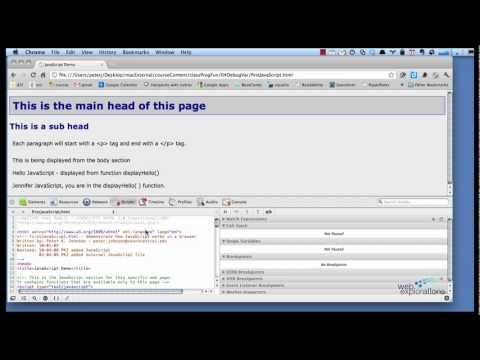 Debugging JavaScript using Breakpoints with the Google Chrome Developer Tools