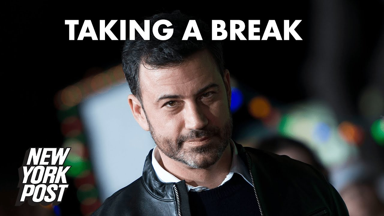 Jimmy Kimmel is taking a break from his late-night show