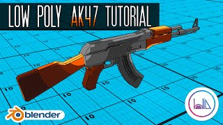 Wie man ein Low-Poly AK-47 in Blender 2.8