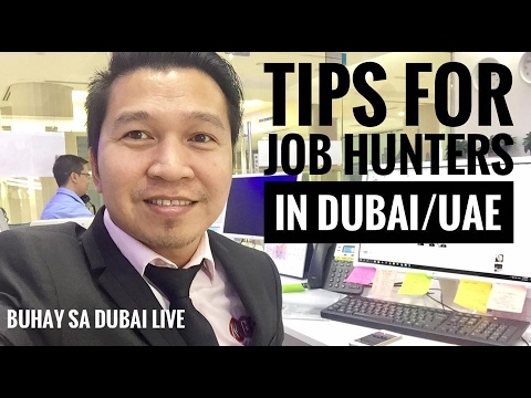 TIPS FOR JUB HUNTERS IN DUBAI / UAE (via FB Live)