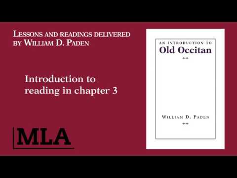 Introduction to reading in chapter 3