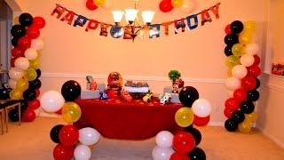 Faça vc mesma   Torre de bolas com 4 cores e decoracao para festa