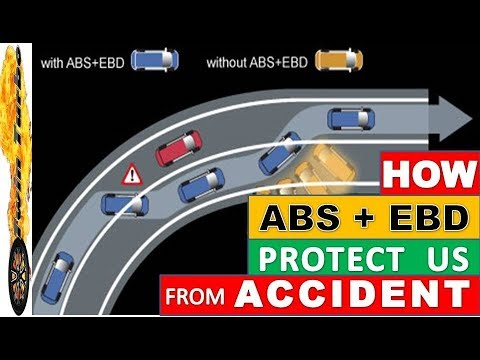 HOW ABS AND EBD WORKS IN HINDI | ANTI-LOCK BRAKING SYSTEM | ELECTRONIC BRAKEFORCE DISTRIBUTION