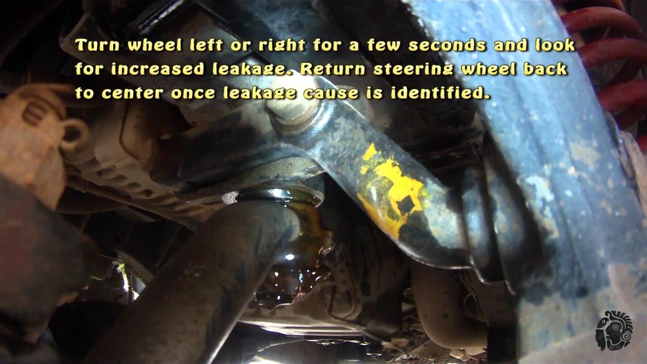 Land Rover Defender Td5 Steering Box Leak Youtube