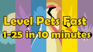 How I level my pets from 1 to 25 in 10 minutes