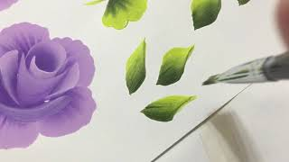 How to paint leaves with acrylic