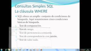 Consultas simples SQL - La clausula WHERE (12)