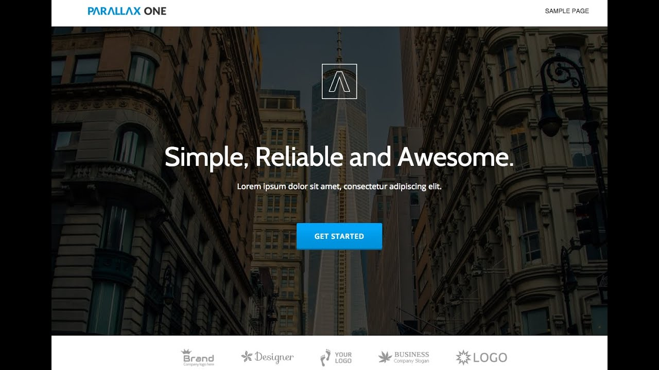 Parallax One Free Page Business Theme Review