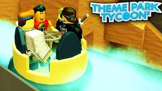 roblox theme park tycoon 2 building a river rapids ride & new inverted coaster