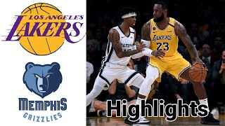 Lakers vs Grizzlies HIGHLIGHTS Full Game