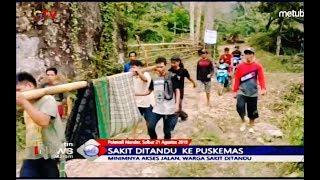 Minim Akses Jalan, Warga Sakit di Polewali Mandar Ditandu ke Puskesmas - BIM 21/08