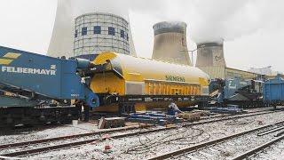 Rekordfahrt – Bahntransport mit 482 Tonnen
