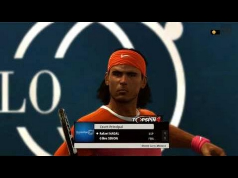 Rafael Nadal Vs Gilles Simon Monte Carlo 2017 Atp Tennis Gameplay Xbox 360