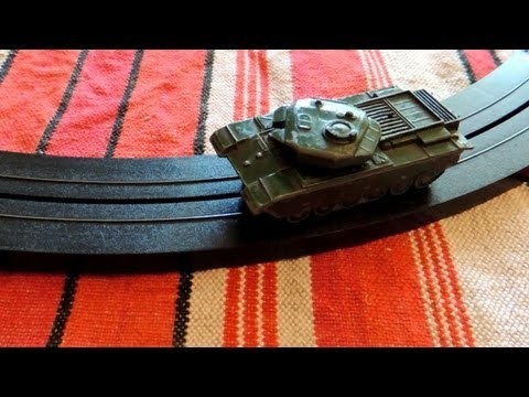 Testing Matchbox / Lesney Centurion Tank Mark III on Tyco tracks