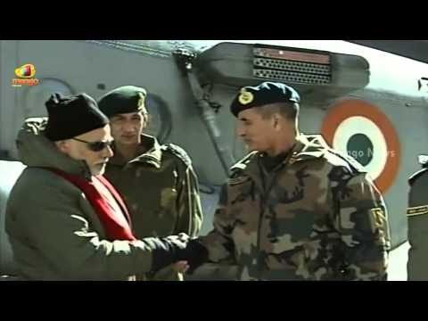 PM Modi arrives at Siachen Base Camp to celebrate Diwali with soldiers