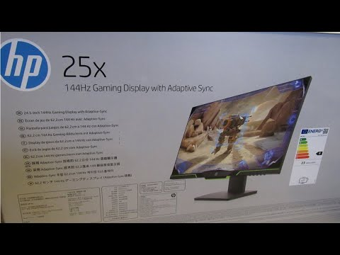 HP 25x 144Hz Full HD Gaming Monitor 1920 x 1080 Monitor - Unboxing and Review