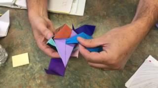 Colliding origami cube