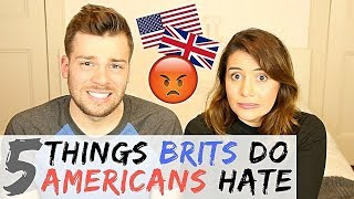 🇬🇧5 THINGS BRITS DO THAT DRIVE AMERICANS CRAZY!  🇺🇸 | American vs British