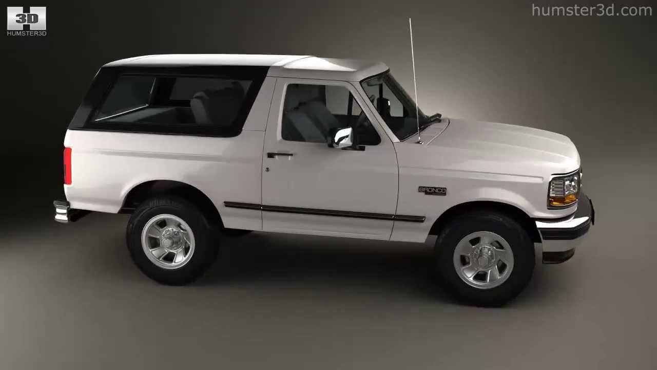 Ford bronco 1992 by 3d model store humster3d com