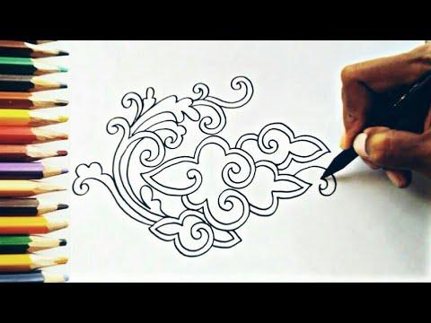 Menggambar Batik Mega Mendung Kontemporer Youtube
