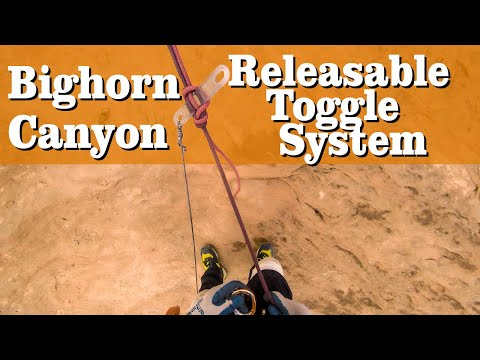 Rappelling On A Releasable Toggle In A Slot Canyon
