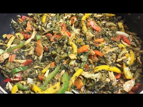 Jamaican Callaloo And Salt Fish | HOW TO MAKE THE BEST Callaloo & Salt Fish Recipe