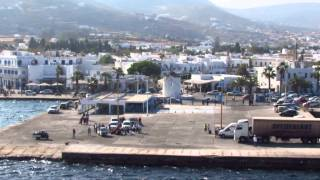 Blue Star ferry arriving at Paros island