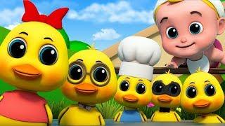 Fünf Kleine Enten | Junior Squad Kinderreime | Cartoons von Kinder-TV