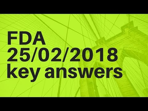 FDA 25 02 2018 key answers