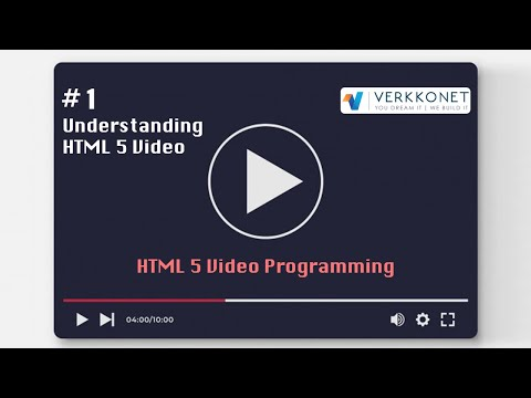 HTML Video Programming #1 - Understanding HTML5 Video (1/4)
