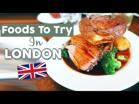 American Tries British Food   Yorkshire Pudding, Fish & Chips, Pie & Mash   Travel Vlog
