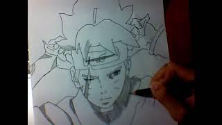 Find Anime teen boruto uzumaki with his mastered eye dojutsu