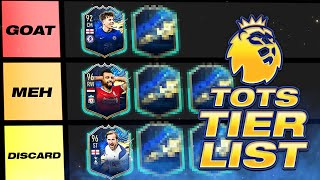 RANKING EVERY PREMIER LEAGUE TOTS PLAYER! (TIER LIST) #FIFA21 ULTIMATE TEAM