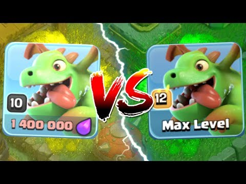LEVEL 10 vs LEVEL 12 BABY DRAGONS!! GEM TO MAX FINALE!! - Clash Of Clans