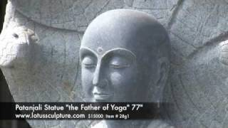 Patanjali Statue the Father of Yoga, Meditating Under Serpent