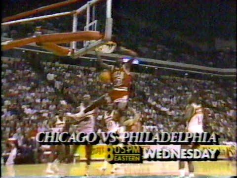 Bulls vs 76ers promo on Superstation TBS (1988)