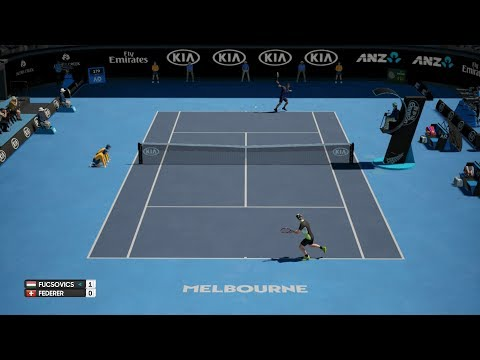 AO Tennis - Marton Fucsovics (CPU) vs Roger Federer (CPU) - Fast4 Match - PS4 Gameplay