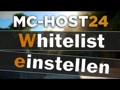MCHost Whitelist Einrichten Konfigurieren Tipps Tricks - Nitrado minecraft server whitelist erstellen